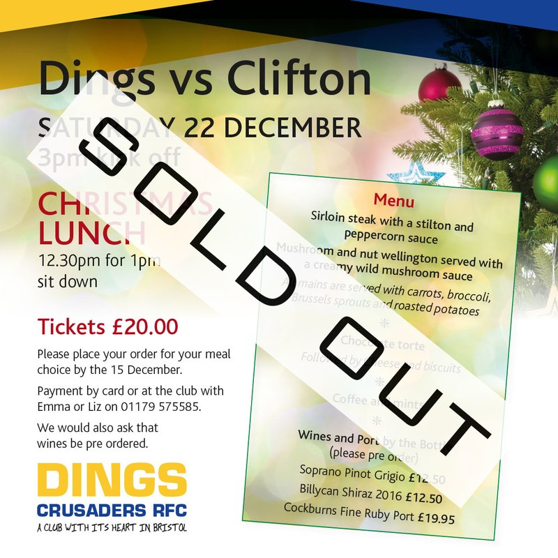 Clifton Lunch Sold Out