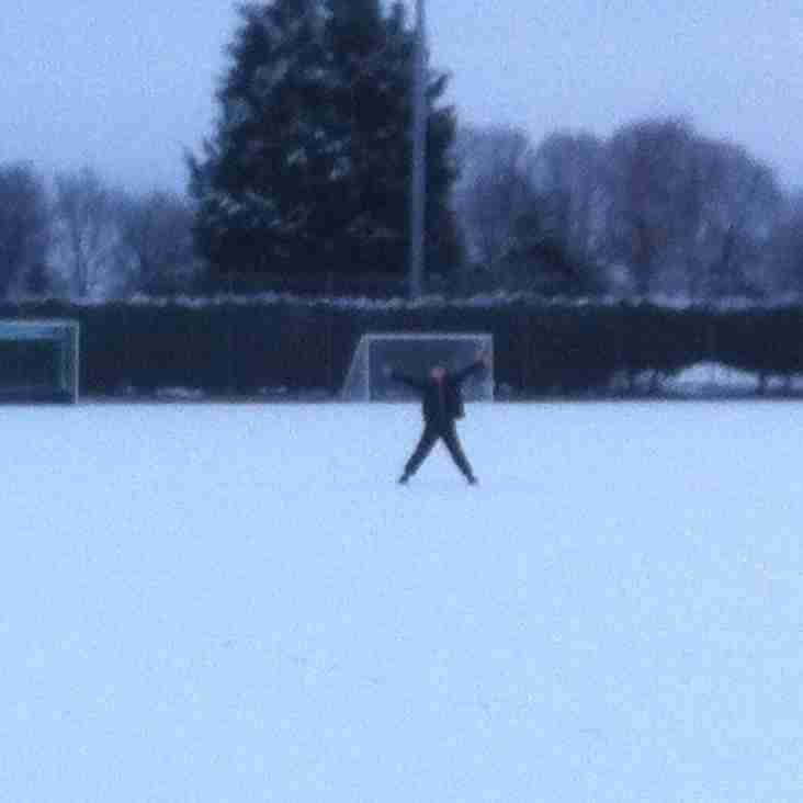 17/01 Junior training cancelled due to snow!