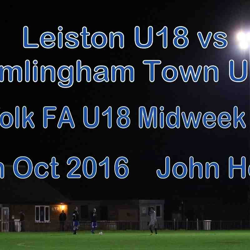 Leiston U18 vs Framlingham U18   13th Oct 2016  John Heald