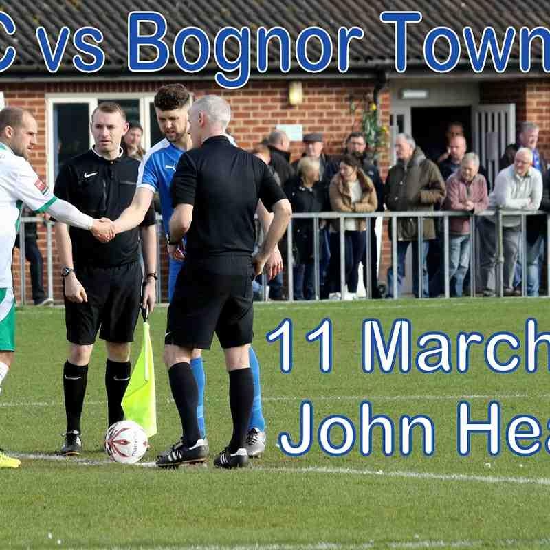 LFC vs Bognor Town FC  11th March '17  John Heald