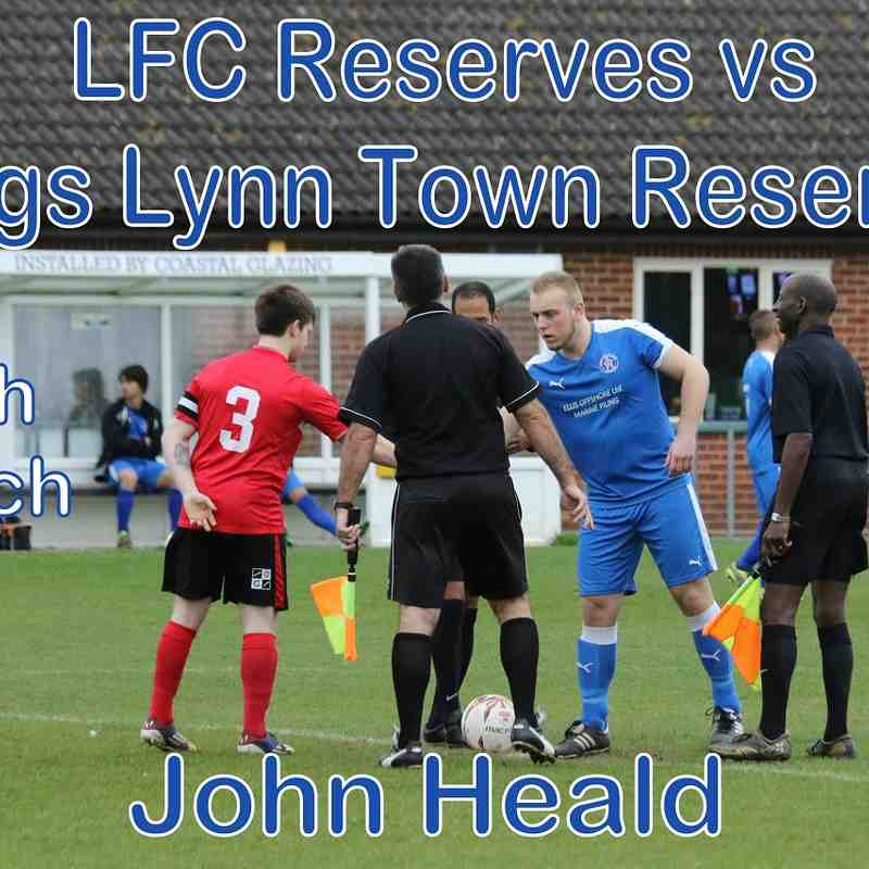 LFC Reserves vs Kings Lynn Reserves  18 March 17  John Heald