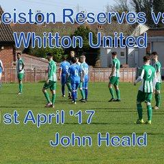 Leiston Res vs Whitton Utd  1st April 17  John Heald