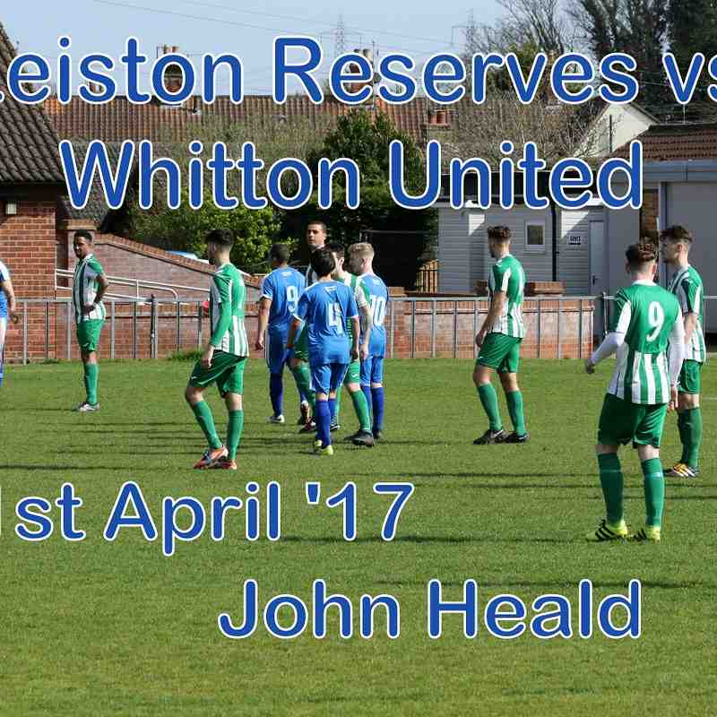 Leiston Res vs Whitton Utd  1st April 17  John Heald