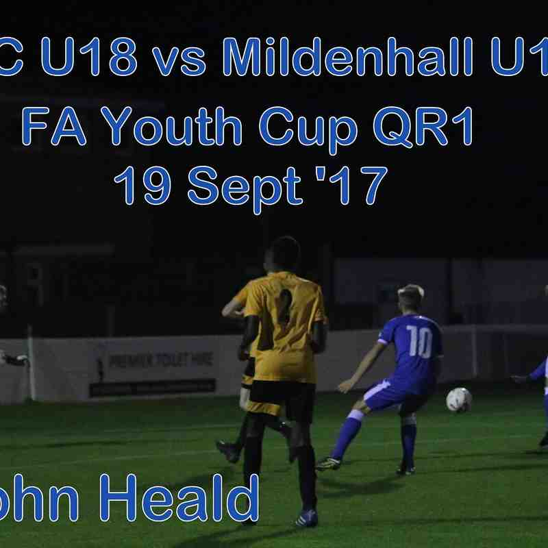 Leiston U18 vs Mildehall Town U18  20 Sept '17   John Heald