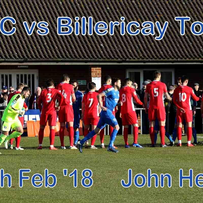 LFC vs Billericay Town  17th Feb '18   John Heald