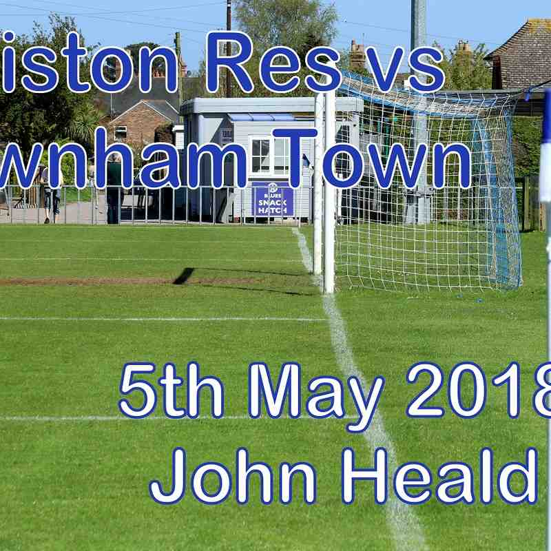 Leiston Reserves vs Downham Town  5th May '18   John Heald