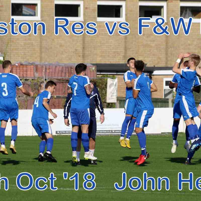 Leiston Res vs F&W Res  20th Oct '18  John Heald
