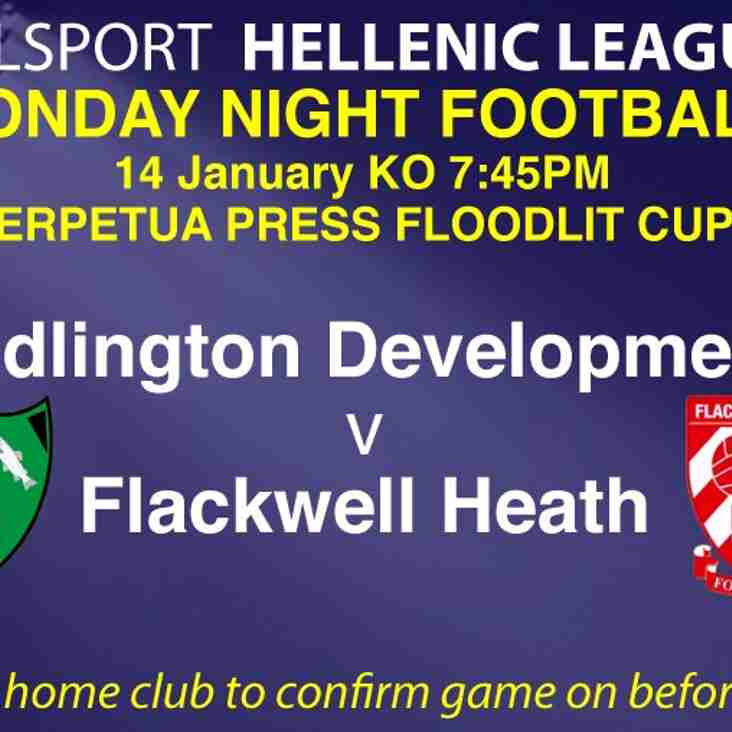 Floodlit Cup Action tonight