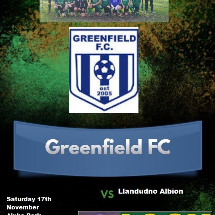 Greenfield V Llandudno Albion<