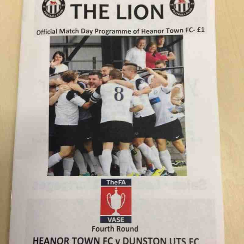 Heanor Town 0 Dunston UTS 1 ( FA Vase )