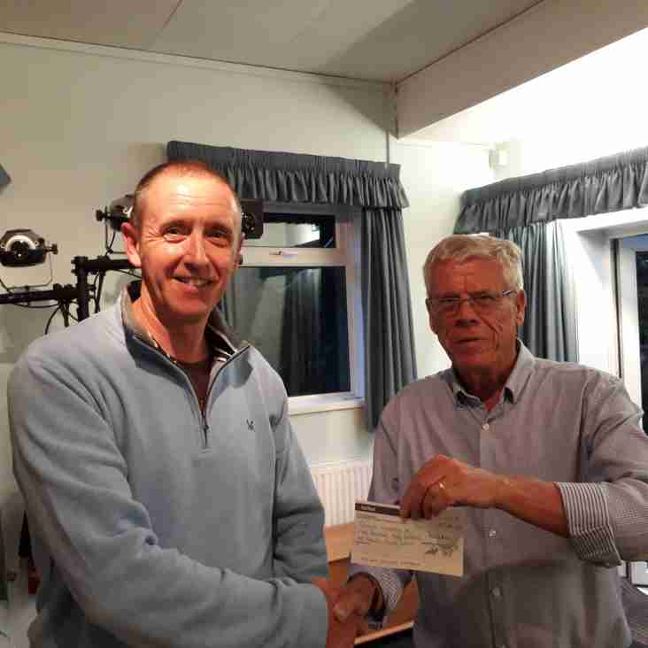 Cancer Cup Cheque Presentation