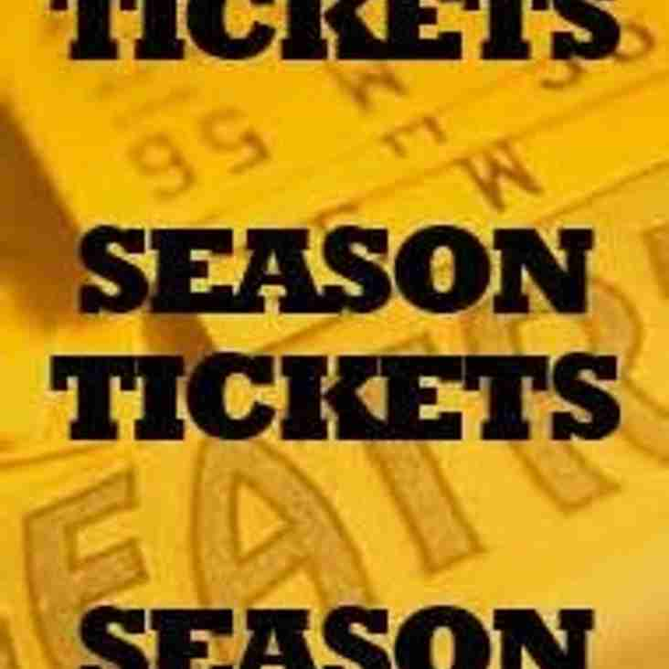 Season tickets and entry prices for the new season