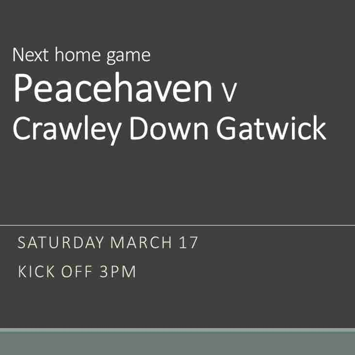 Peacehaven at home on Saturday