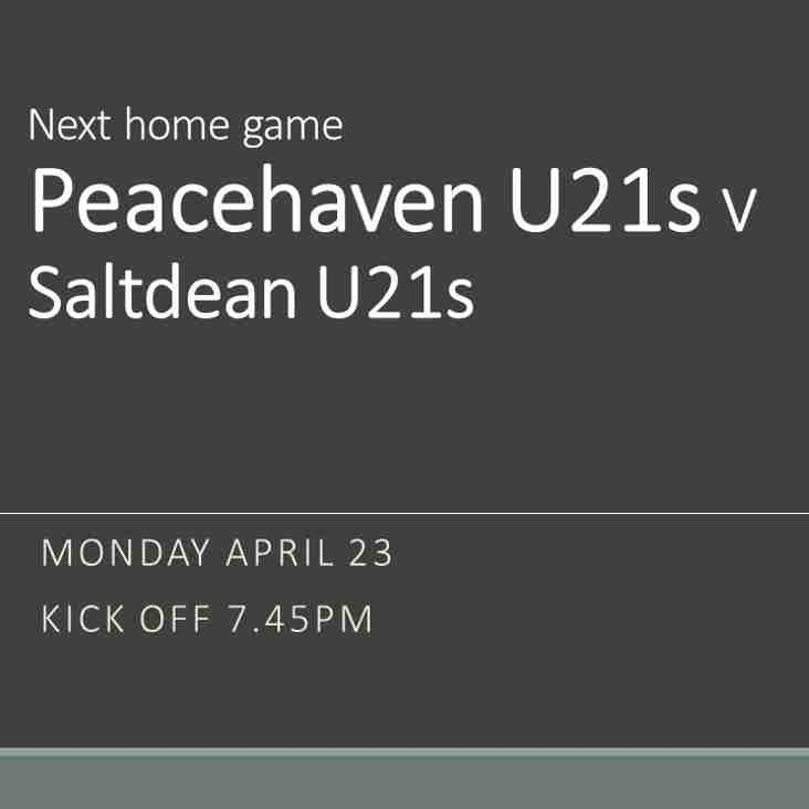 Under 21s at home this evening