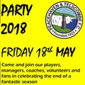 End of season celebration and awards night…and you're invited