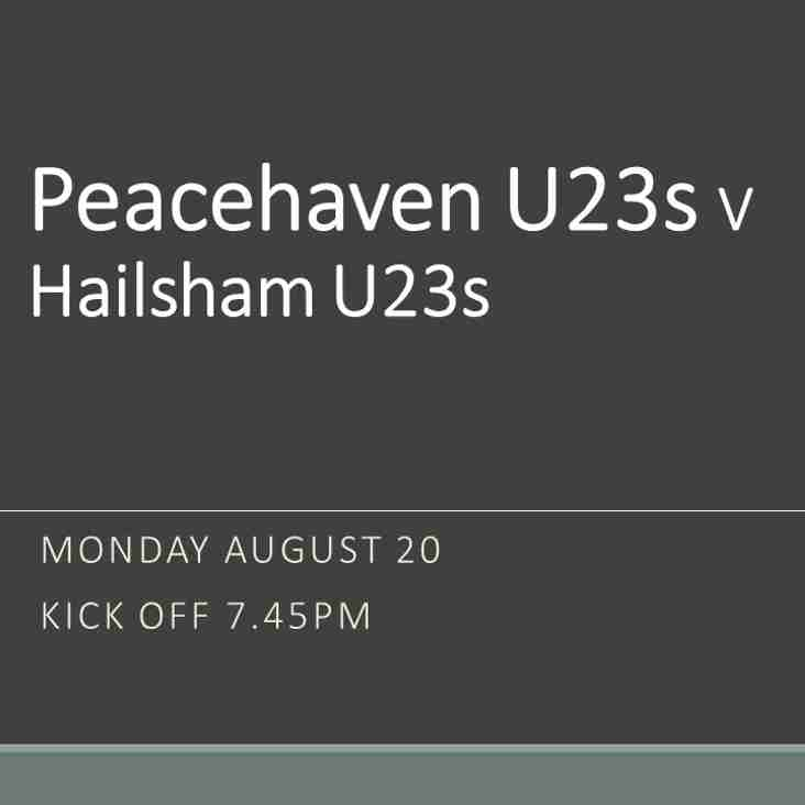 Under 23s at home this evening