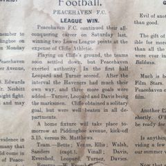 Peacehaven FC match report 1924