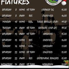 December fixtures