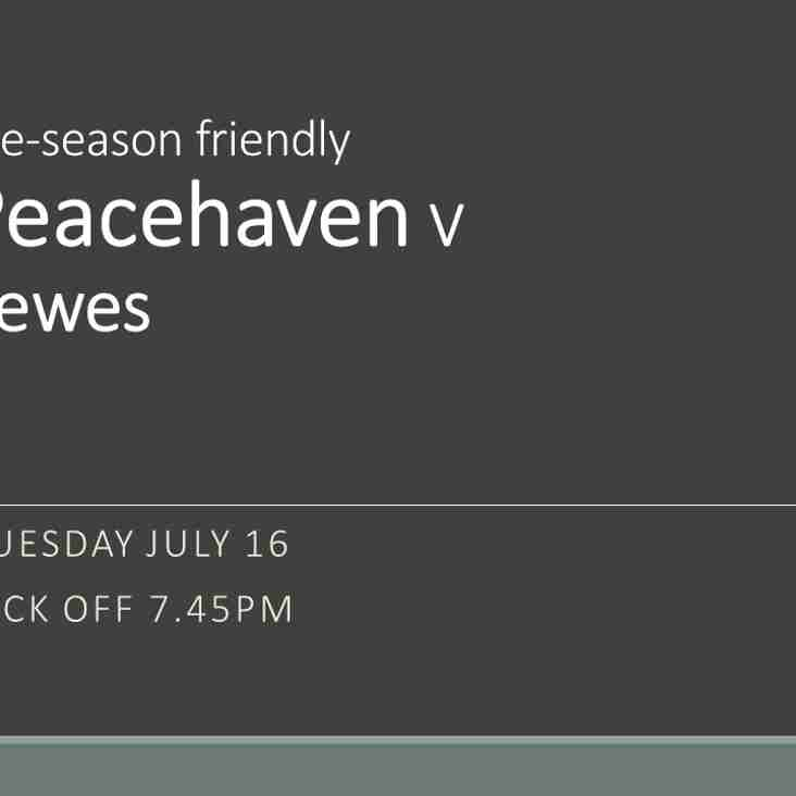 Peacehaven at home to Lewes this evening