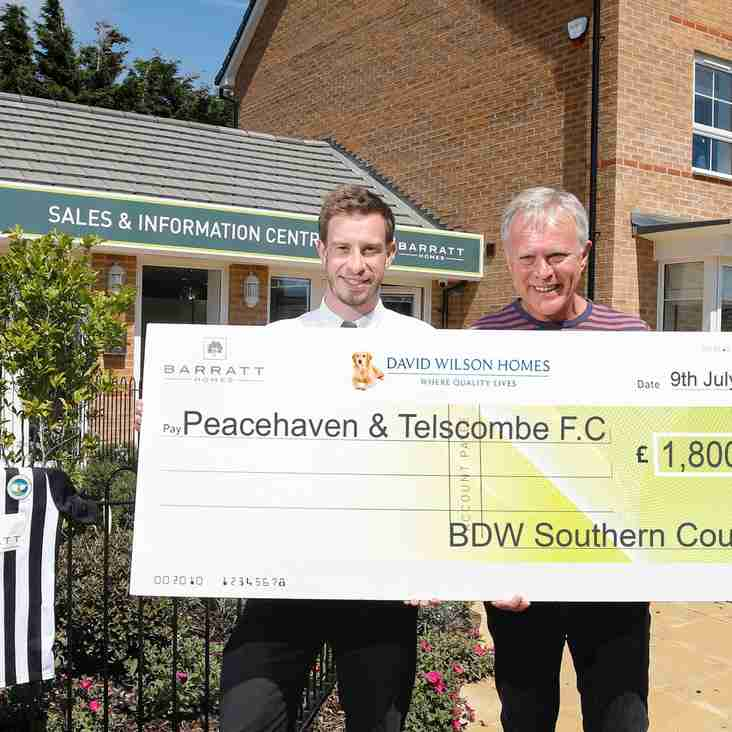 Local housebuilder continues to support Peacehaven & Telscombe FC