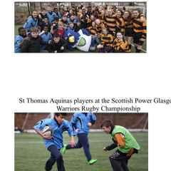 Hawks help drive rugby progress at St Thomas Aquinas