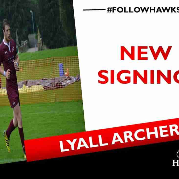 Welcome back Lyall Archer