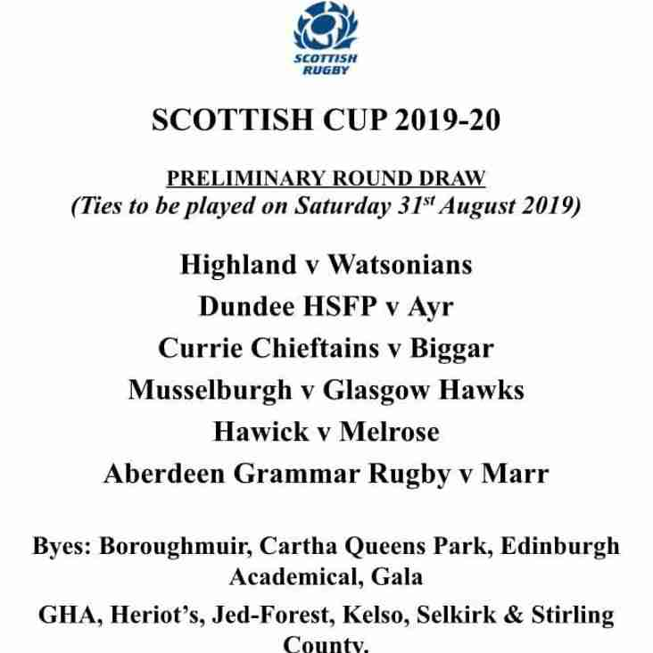 Hawks travel to the Honest Toun for Cup