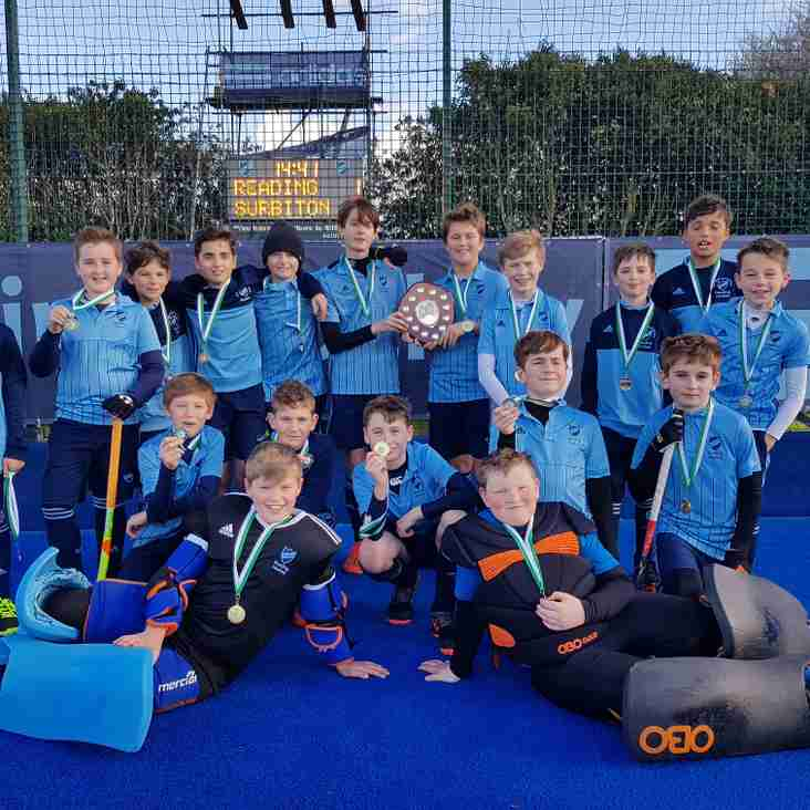Boys Under 12  finish 1st and 2nd in the County Round of England Hockey In2Hockey