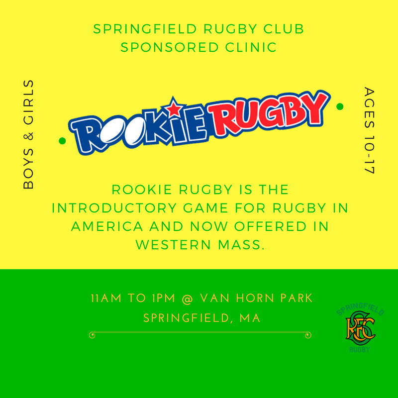 Rookie Rugby Clinic Boys & Girls Ages 10-17