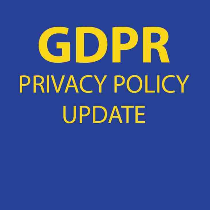 GDPR - Privacy Notice Update