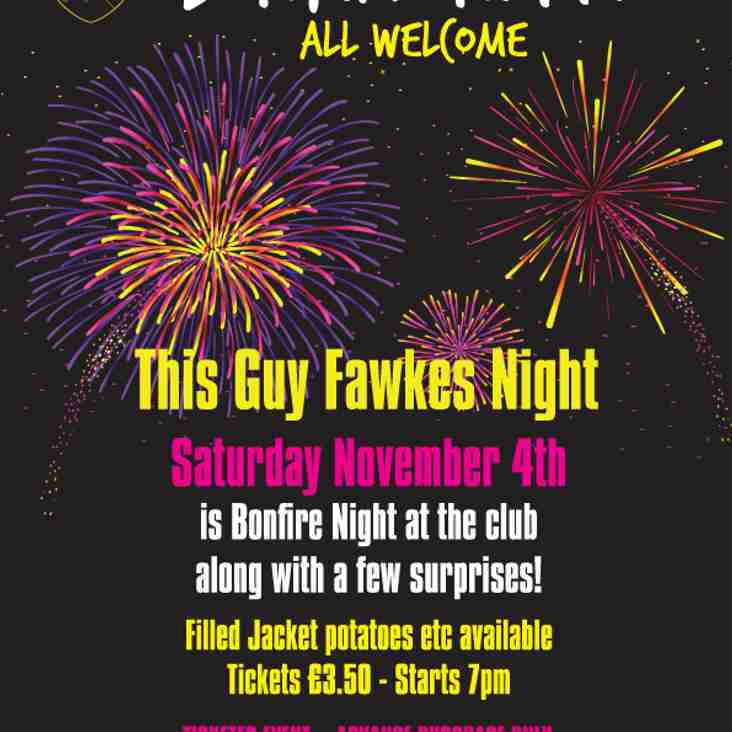 TICKET ONLY FIREWORKS NIGHT 4th NOVEMBER