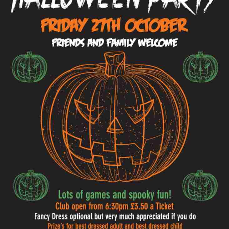 HALLOWEEN PARTY THIS FRIDAY