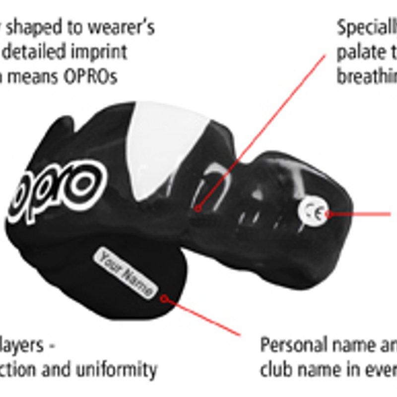 OPro bespoke mouthguards Sunday September 10th 2017
