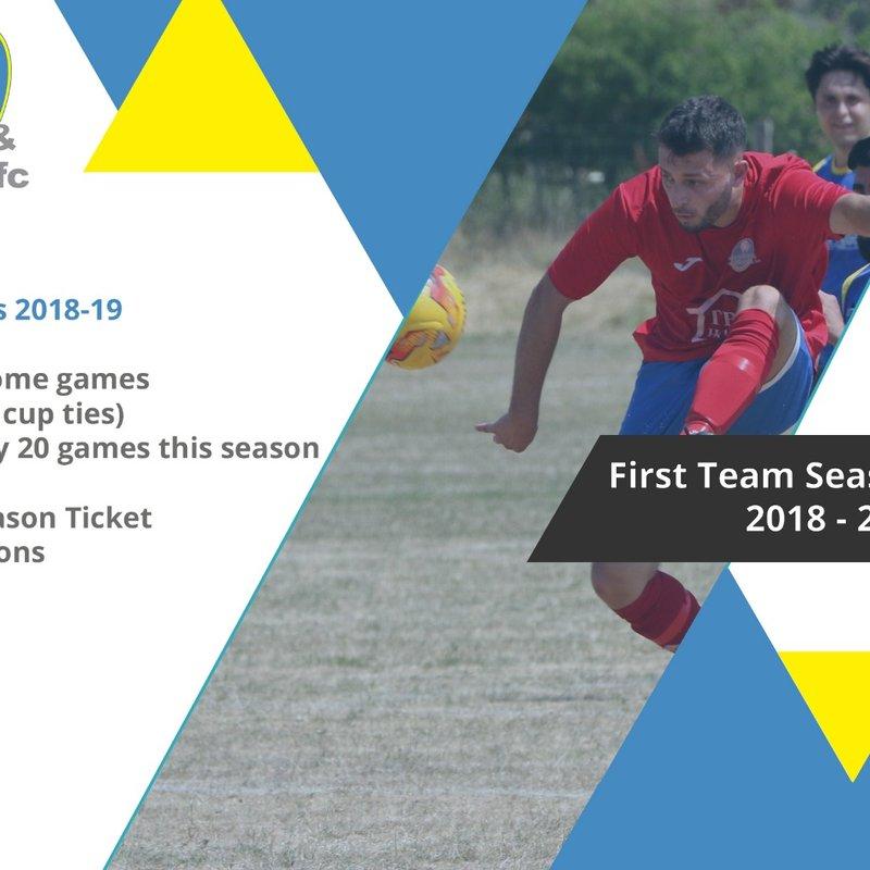 1st Team Season Ticket prices