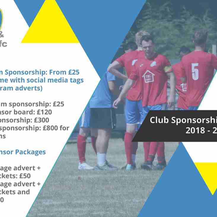 Sponsorship Packages Now Available