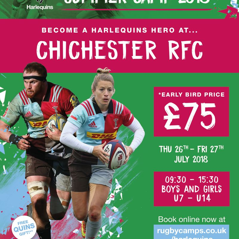 Harlequins Summer Camp at Chichester RFC 26-27 Jul 18