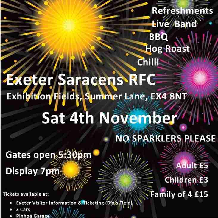 Fireworks Display at the Sarries