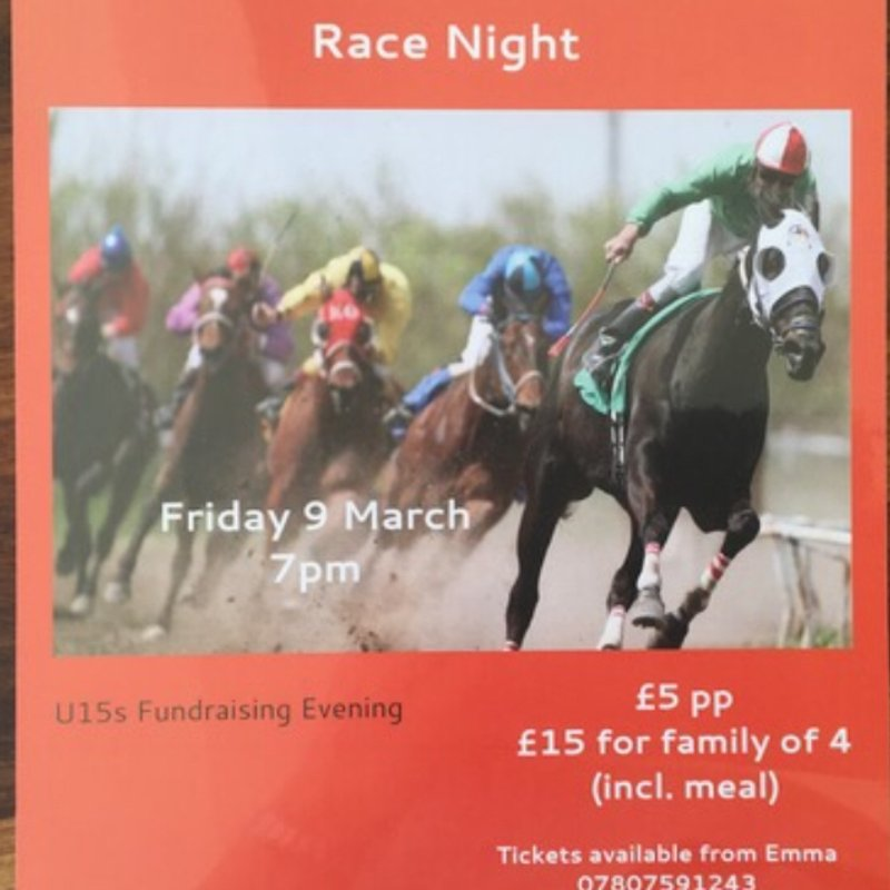 Race Night fri 9th March