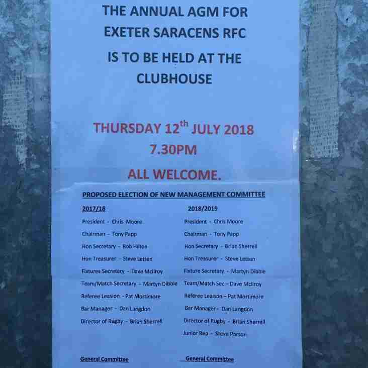 AGM 12th July