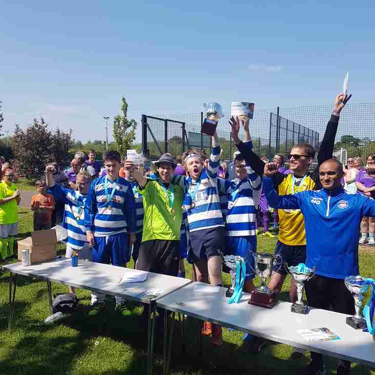 The Oxford City Casuals Nomads celebrate success in Northampton