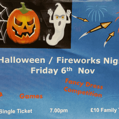 Halloween and Fireworks night Friday 6 November 2015