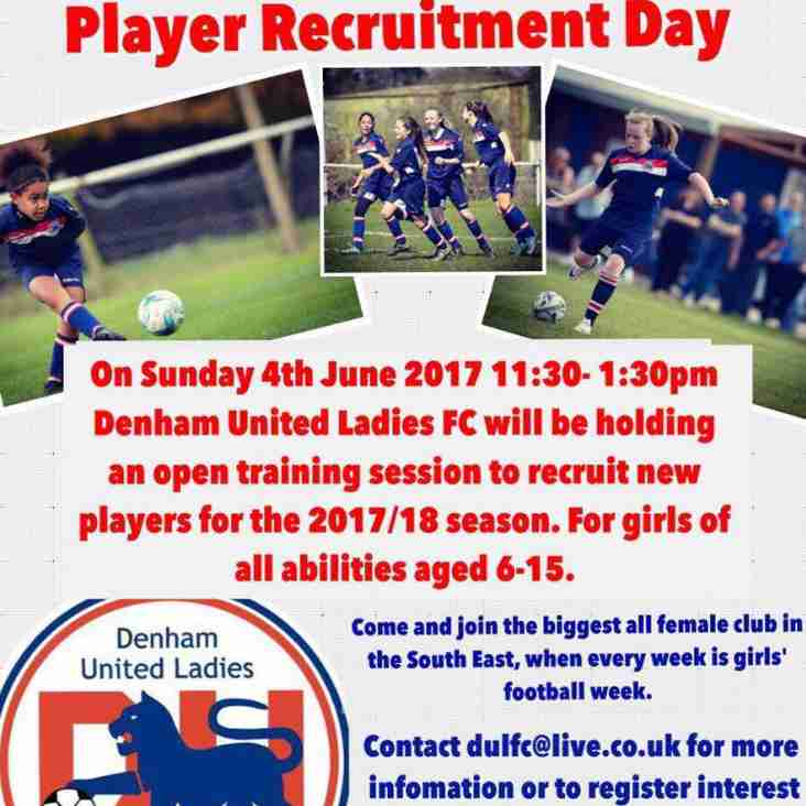 Junior Section Player Recruitment Day Announced