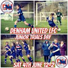 Denham Junior Trials 12-2pm Saturday 4th June 2016