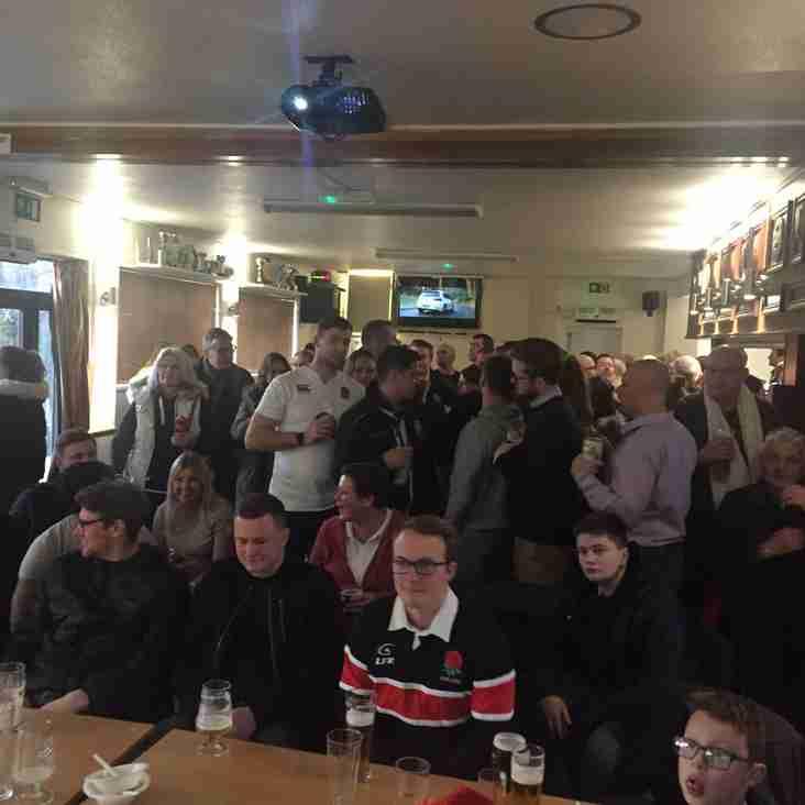 Club celebrates England's win over Ireland