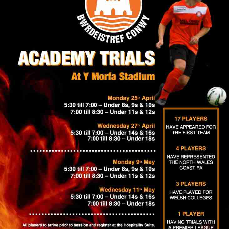 Academy Trial Dates