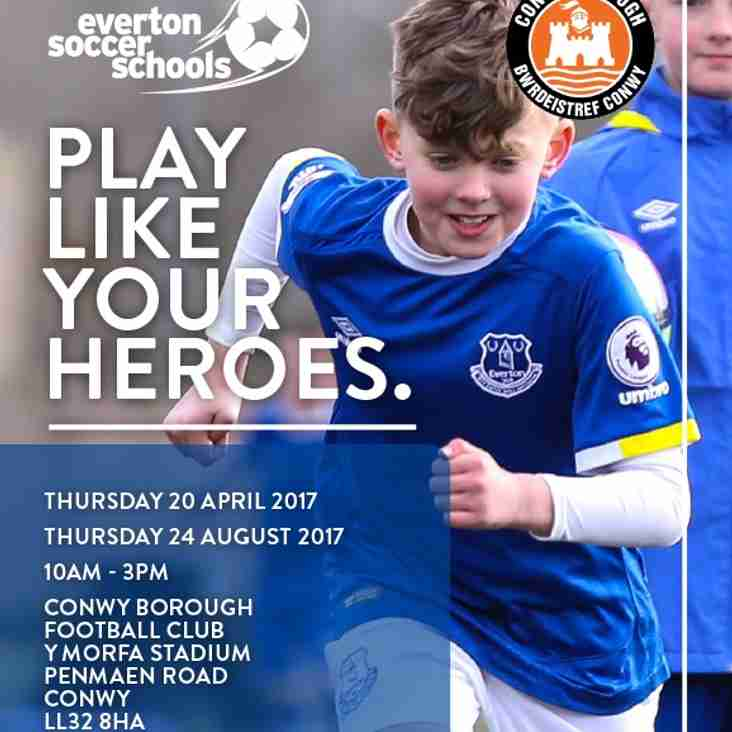 Everton FC Soccer Camps at Y Morfa Stadium