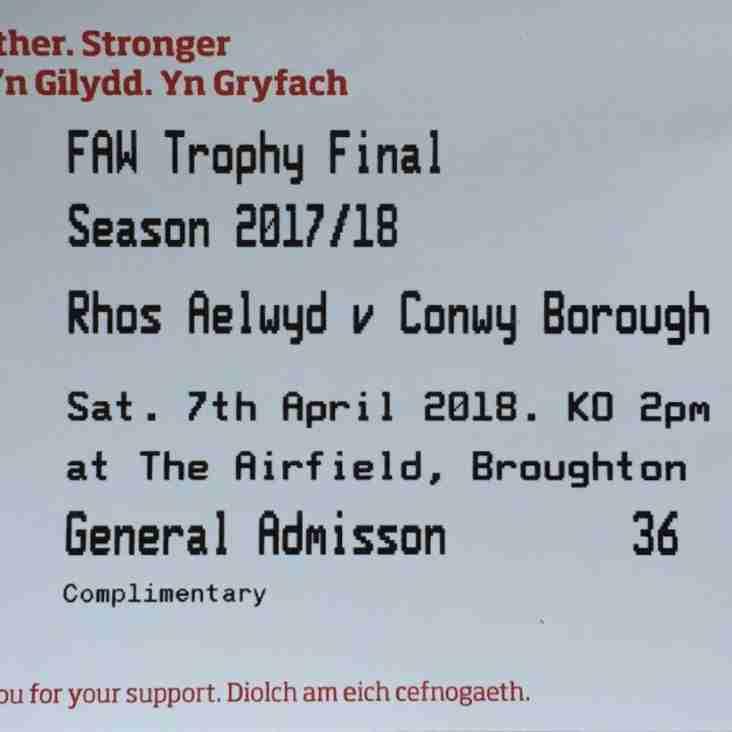 FAW Trophy Final Preview - Rhos Aelwyd FC v Conwy Borough FC (07/04/2018)