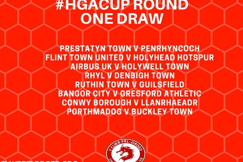Huws Gray Cymru Alliance Cup Draw.