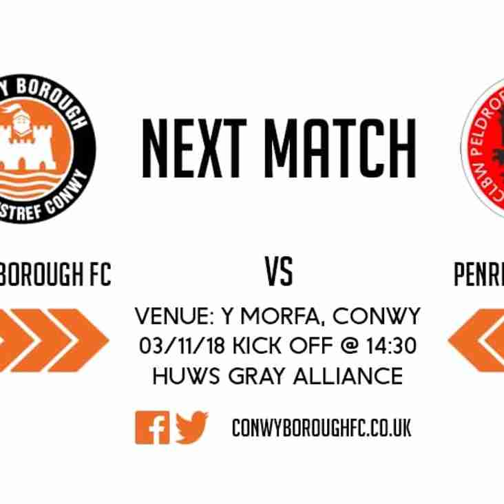 Match Preview - Penrhyncoch FC