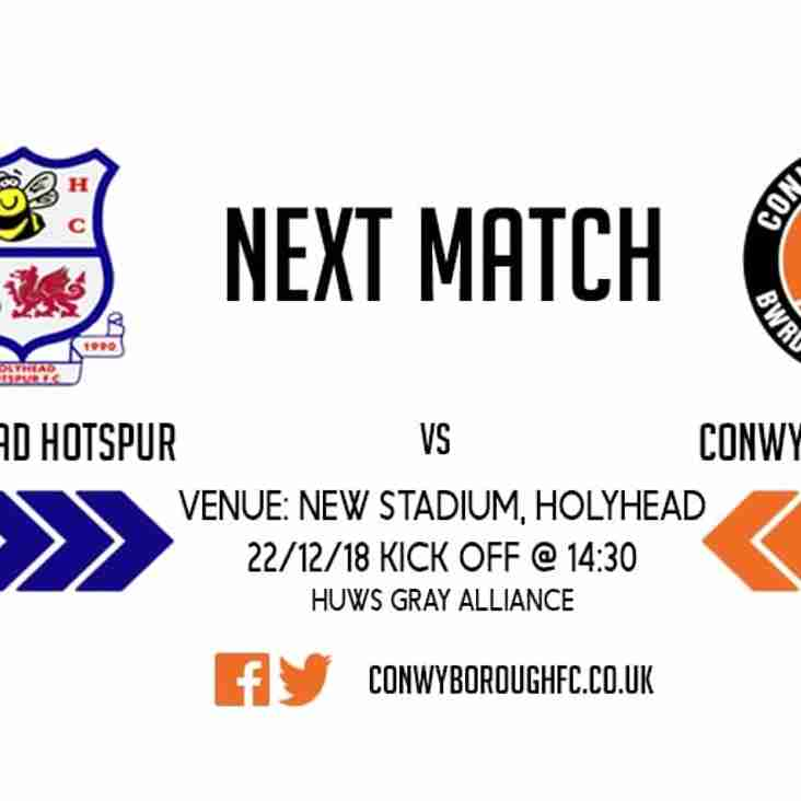 Match Preview - Holyhead Hotspur  FC